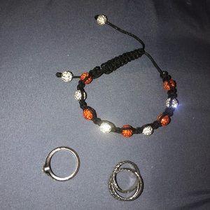 Jewelry - Jewelry bundle 2 rings and Shambala bracelet